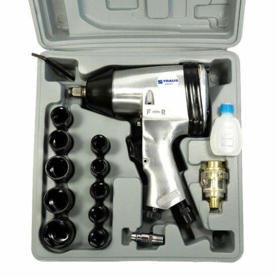 Straus pneumatikus ütvecsavarozó légkulcs 17 részes készlet 310 Nm ST/IW13-170