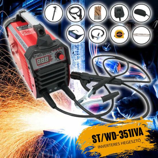 Inverteres hegesztő + 14 kiegészítő kofferben ST/WD-351IVA